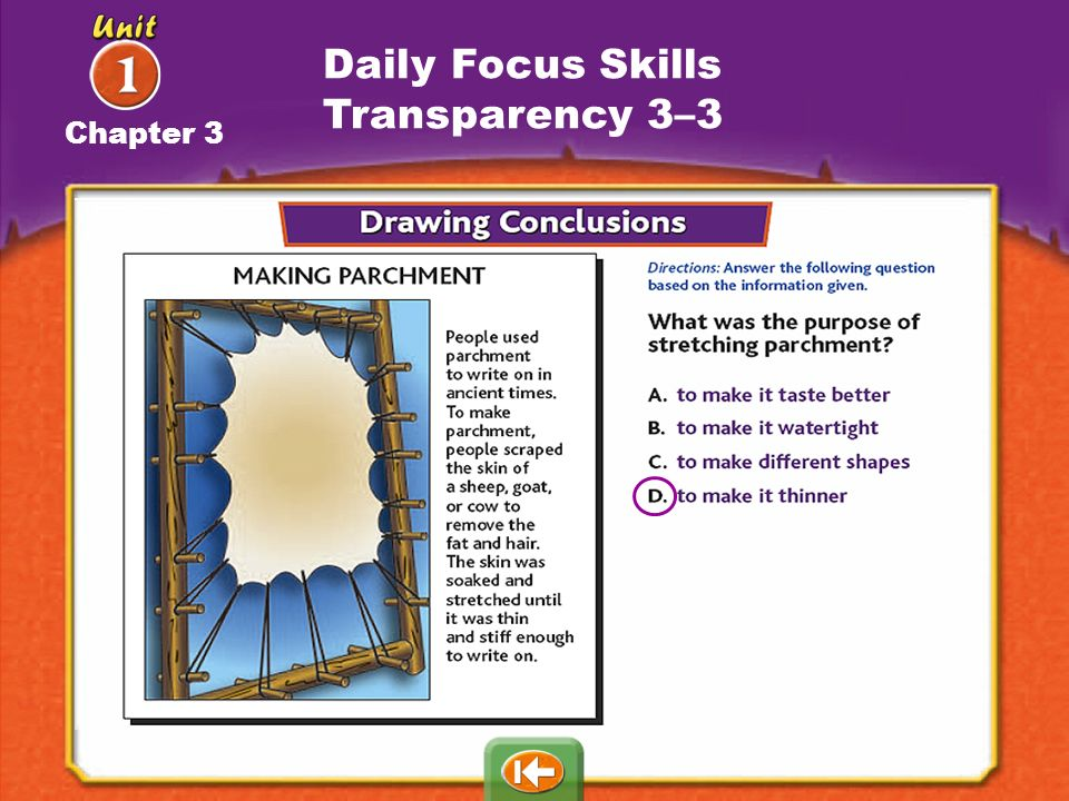 Daily Focus Skills Transparency 3–3 Chapter 3