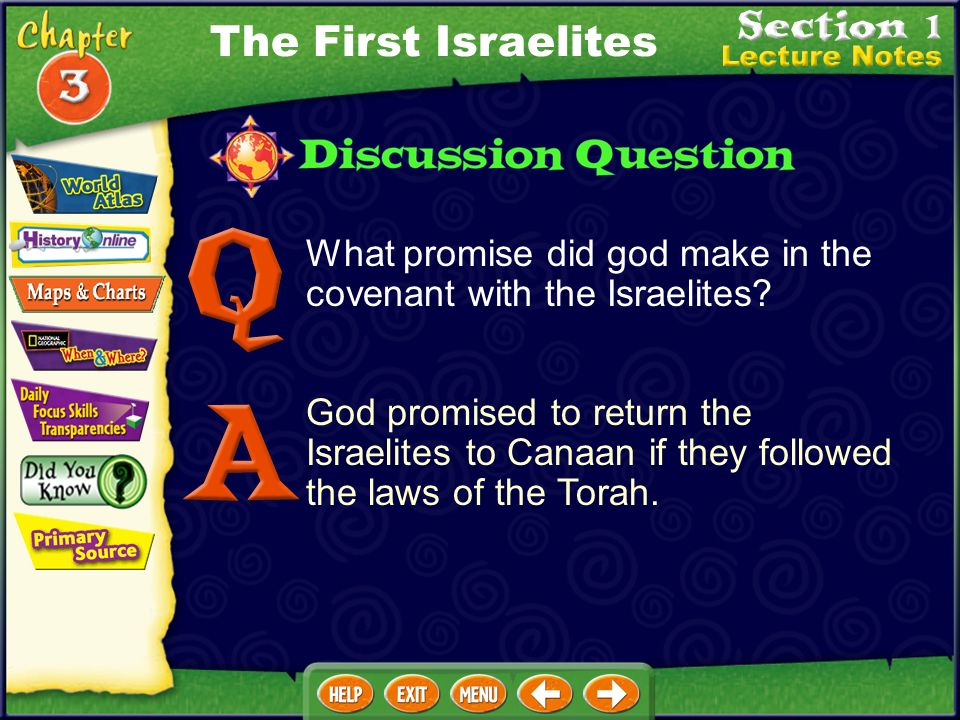 What promise did god make in the covenant with the Israelites.