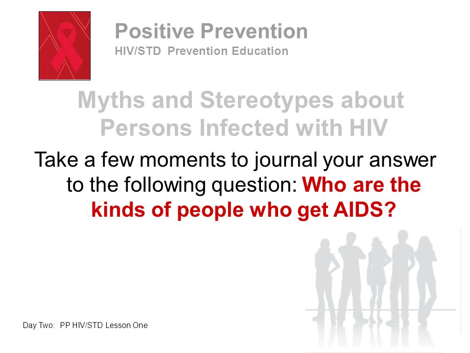 Lesson Objectives Describe the impact of HIV/AIDS on an individual and his/her family Identify how to show compassion for persons infected with HIV/AIDS Day Two: PP HIV/STD Lesson One