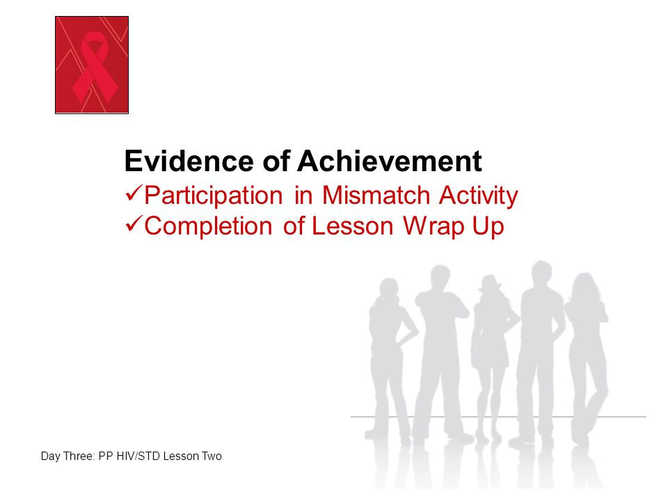 Take a Few Minutes to Complete Your Lesson Wrap Up End of Day Three: PP HIV/STD Lesson Two