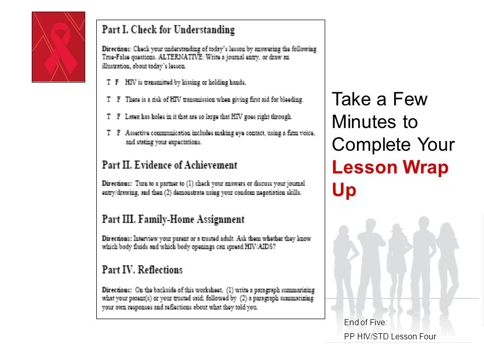 Positive Prevention HIV/STD Prevention Education Peer and Media Pressure Day Six: PP HIV/STD Lesson Five
