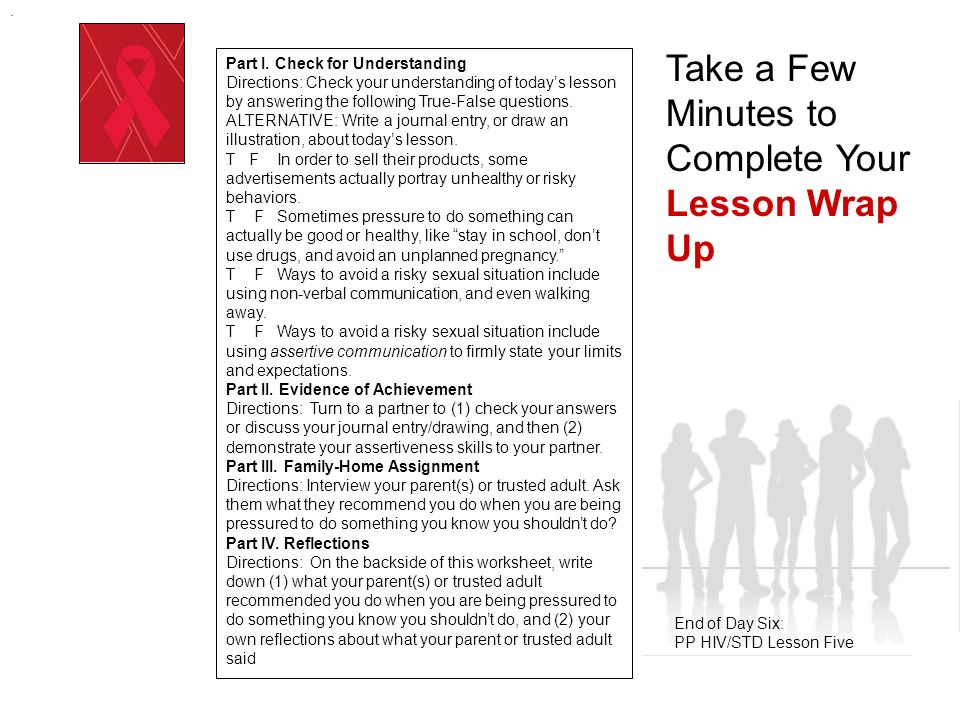 Positive Prevention HIV/STD Prevention Education COMMUNITY RESOURCES & PERSONAL CONTRACTS Day Seven: PP HIV/STD Lesson Six.