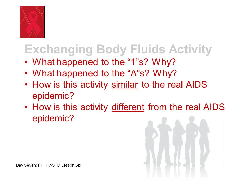. Remember! An HIV infection will not show up immediately!