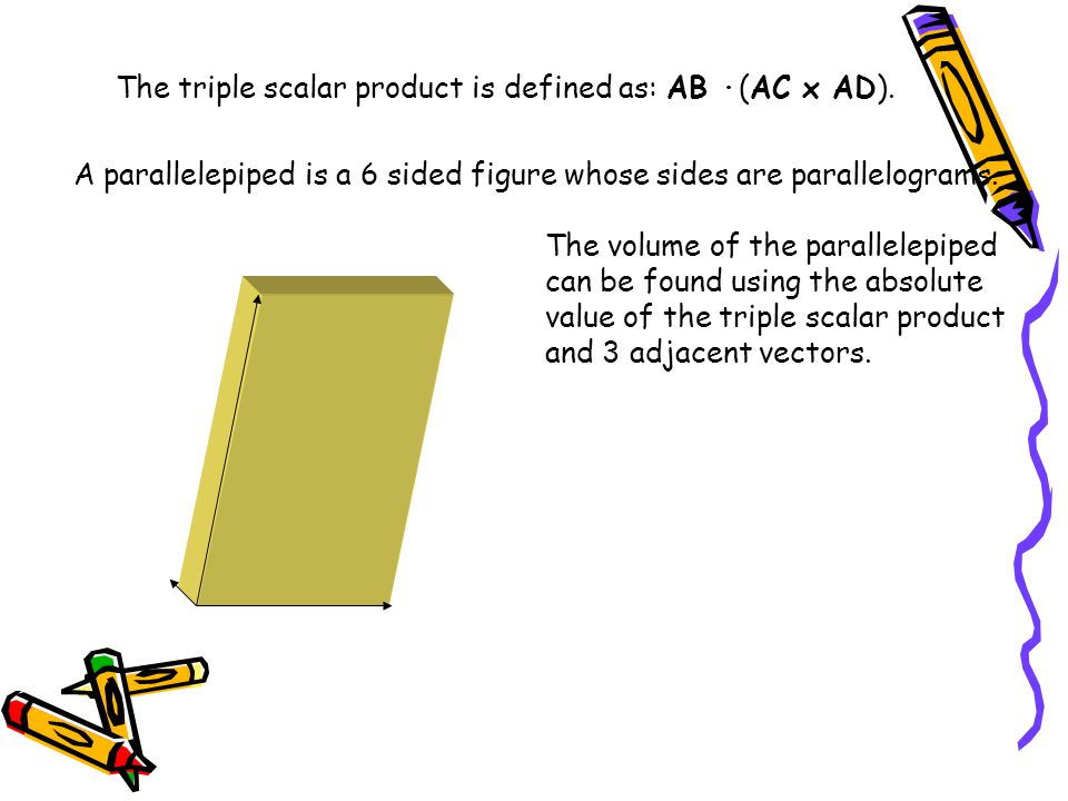 Why would the triple scalar product be the volume of the figure?