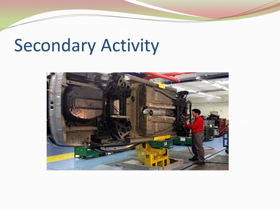 Tertiary Activity The portion of the economy concerned with transportation, communications, and utilities, sometimes extended to the provision of all goods and services to people, in exchange for payment.