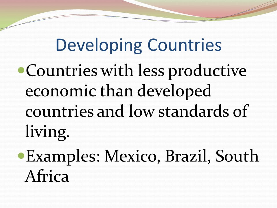 Developing Countries