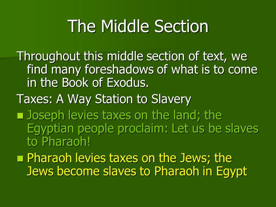 Storehouses in Raamses The Jews settle in the land of Raamses.