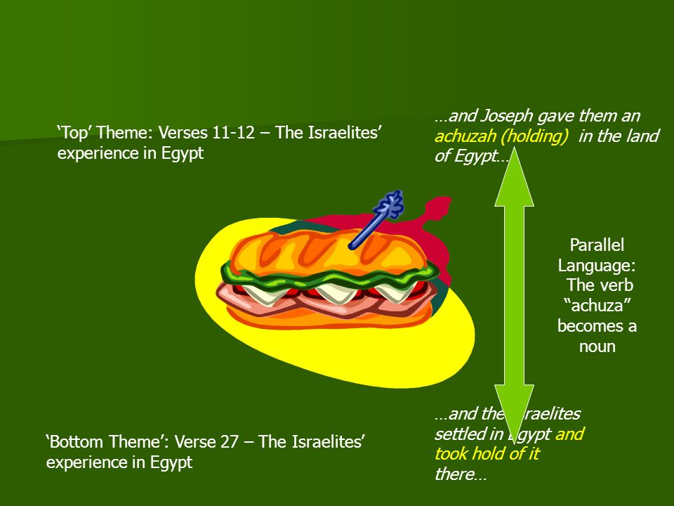 Examining the Intervening Verses Having looked briefly at the bread, lets examine these intervening verses, which describe the Egyptian experience in Egypt…