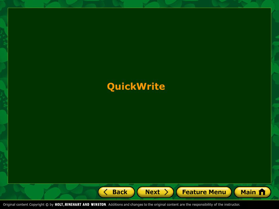 QuickWrite