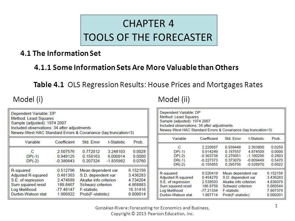 2 Figure 4.1 Forecasting Environments: Recursive Scheme González-Rivera: Forecasting for Economics and Business, Copyright © 2013 Pearson Education, Inc.
