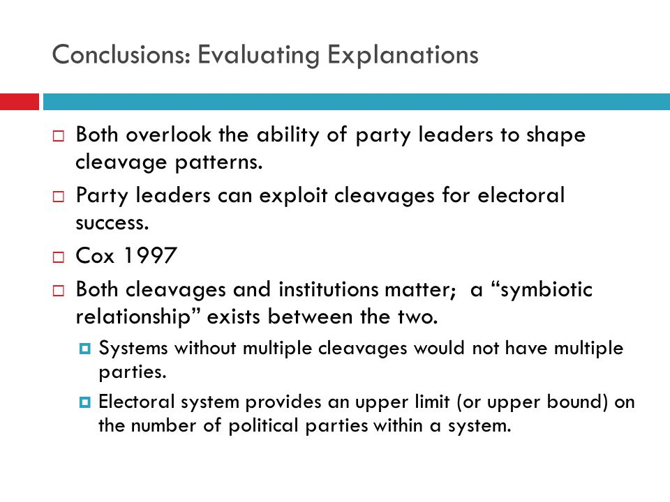 Next Unit  Theme: Party Systems-Electoral Volatility  Readings Ware CH 7 Reserves: Pedersen, Mair