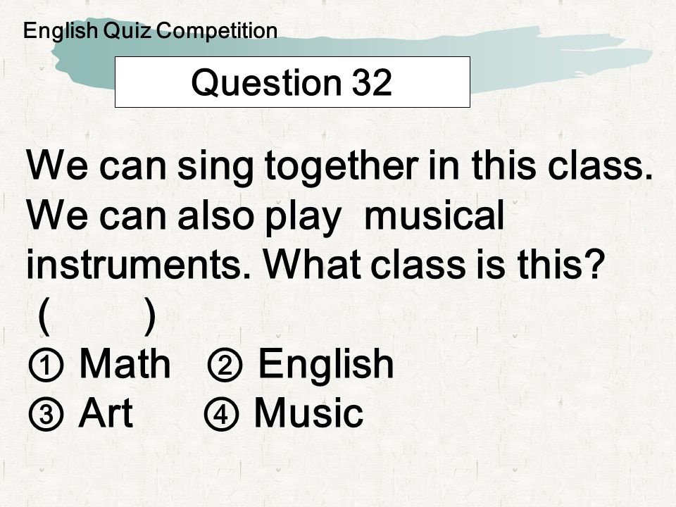 Question 33 May 5th is the day we pray for the happiness of children.