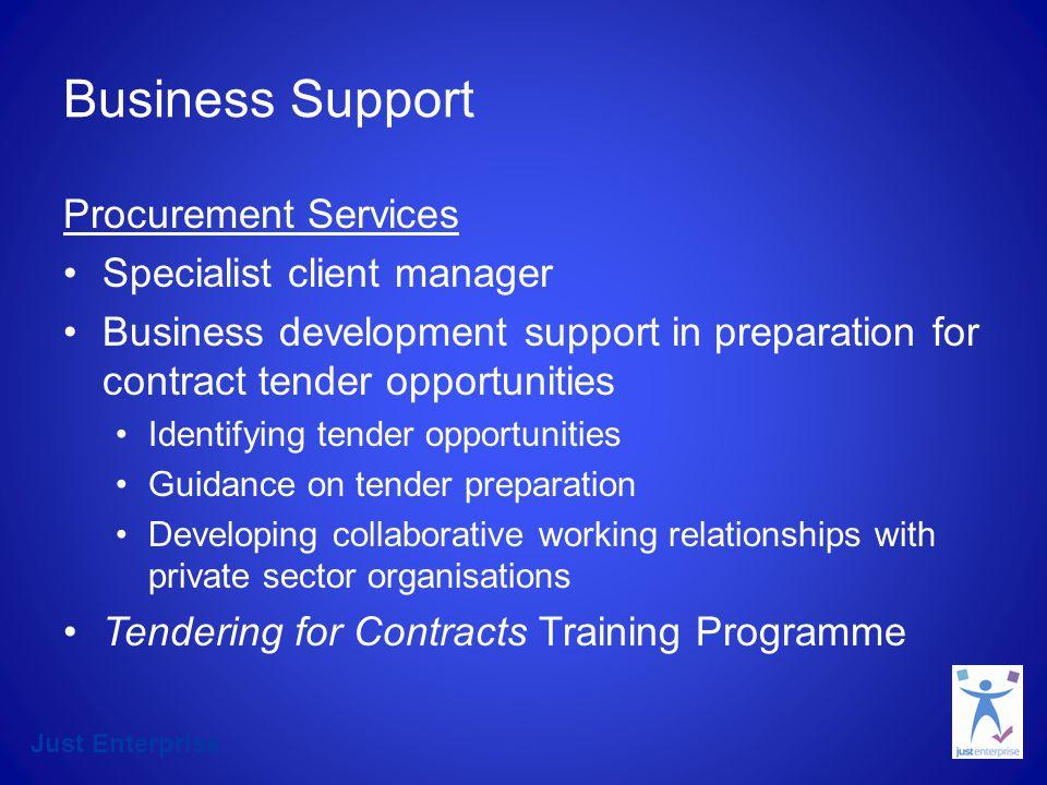 Just Enterprise Leadership and Development Services Programme Name No.