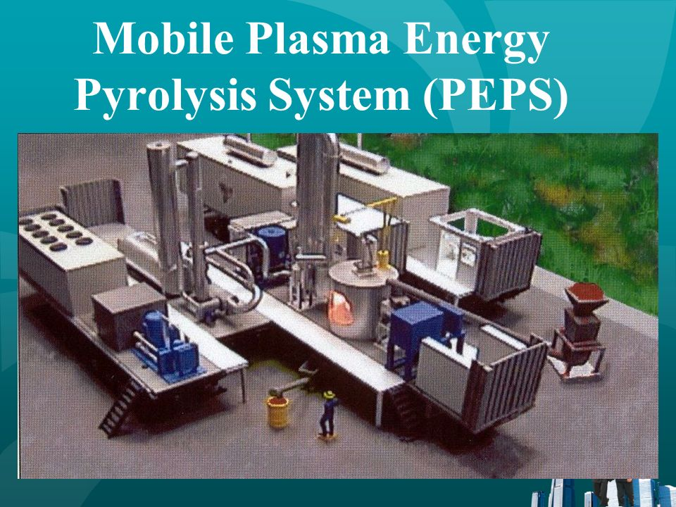 GaTech Plasma Waste Processing & Demonstration System Developed by USACERL Congressional funding Capacity 10 tons/day Complete system Feed & Tapping Furnace Emissions control Wastewater treatment 1MW mobile generator