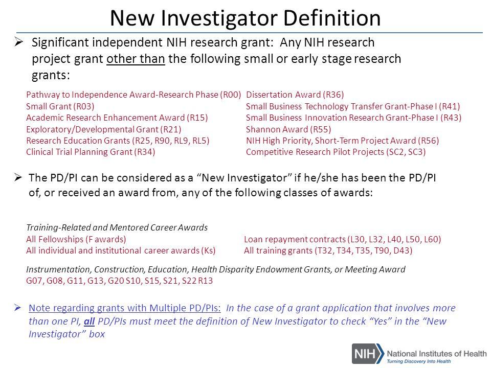 NIH New Investigators
