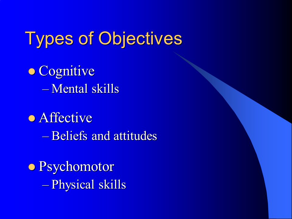Tips for Writing Objectives Objectives should specify four main things: Objectives should specify four main things: –Audience - Who.