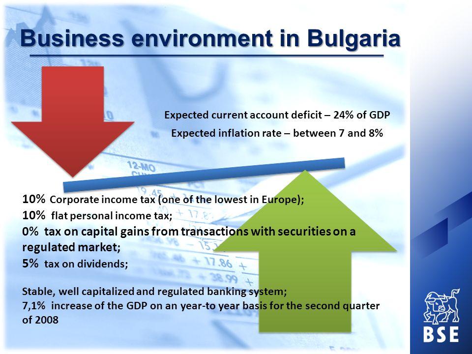 Bulgarian capital market in 2007 Market capitalization (BSE - Sofia) / GDP 200520062007 19.71%31.20%55.46% Raised capital through the capital market (mln.