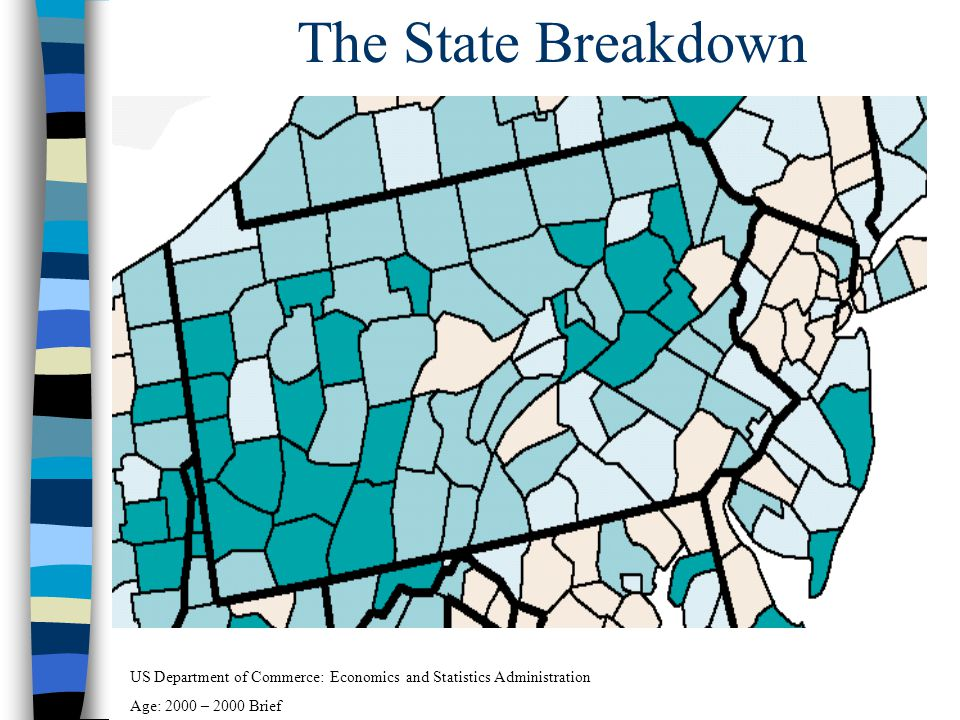 The State Breakdown US Department of Commerce: Economics and Statistics Administration Age: 2000 – 2000 Brief