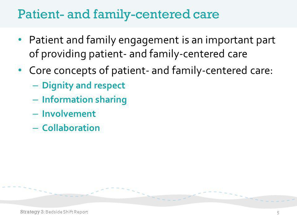 Why patient and family engagement.