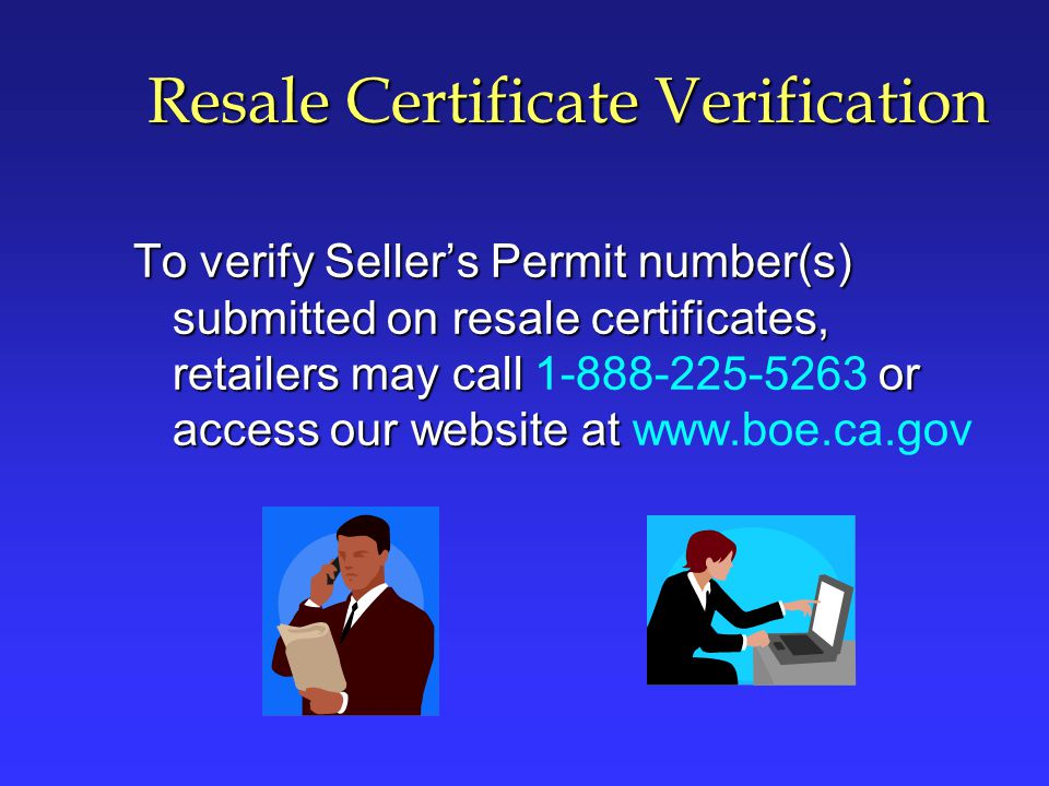 Resale Certificate Verification