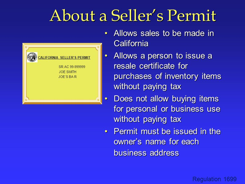 Penalties for Improper Use of Resale Certificates Misuse of resale certificate is a misdemeanorMisuse of resale certificate is a misdemeanor The penalty is $500 or 10% of the amount of tax per transaction whichever is greaterThe penalty is $500 or 10% of the amount of tax per transaction whichever is greater Regulation 1703
