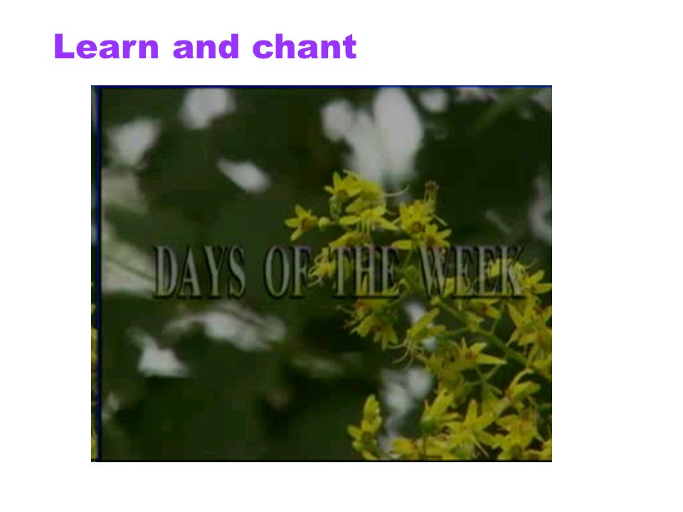 Learn and chant