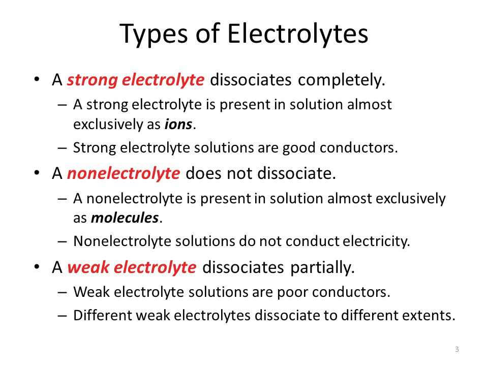 A strong electrolyte dissociates completely.