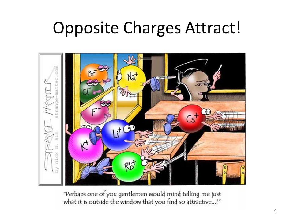 Opposite Charges Attract! 9