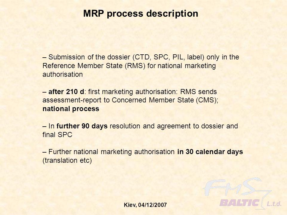 Kiev, 04/12/2007 MRP flow-chart
