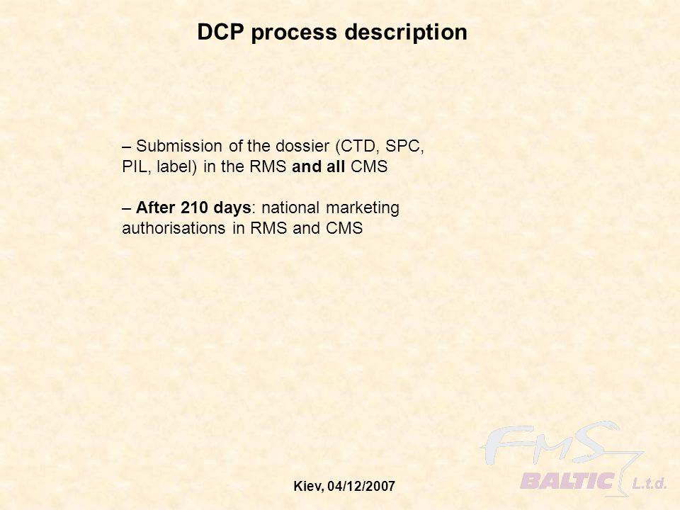 Kiev, 04/12/2007 DCP process description