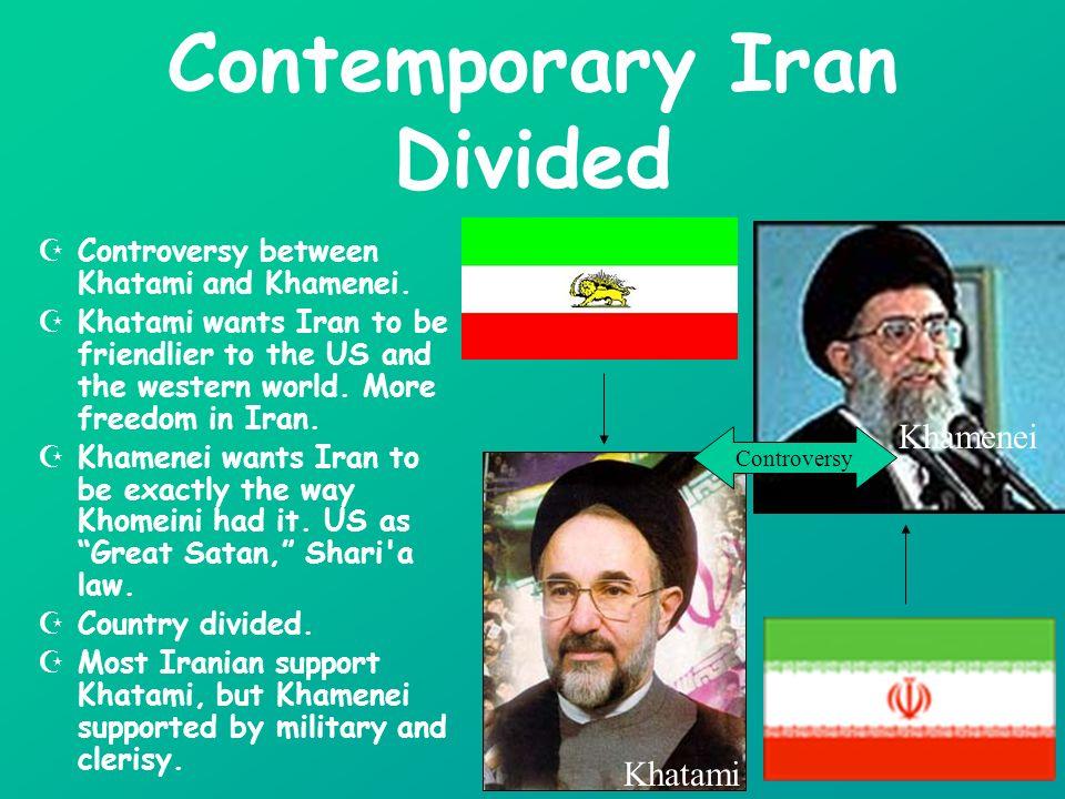 Controversy between Khatami and Khamenei.