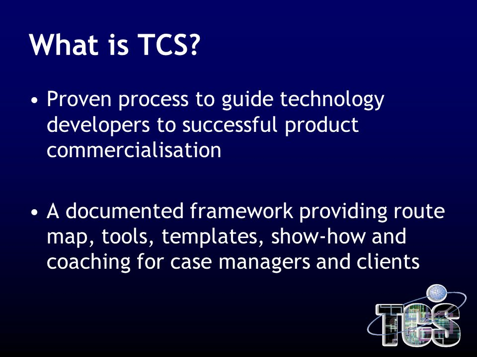 What is TCS.