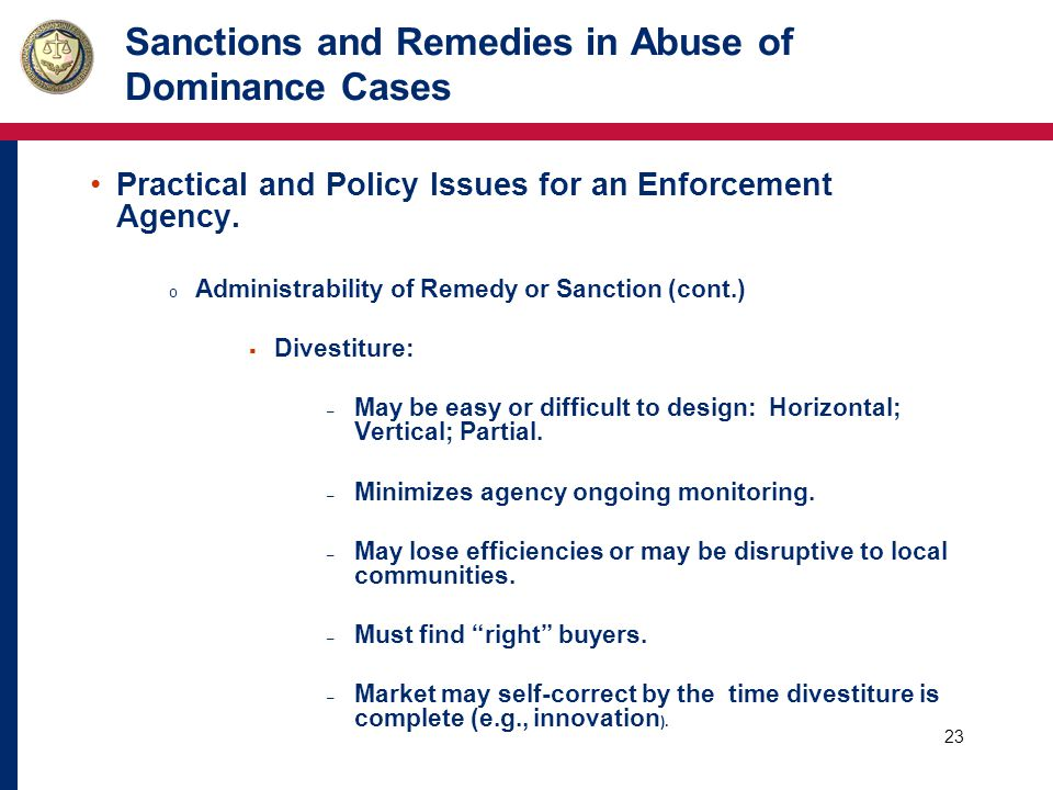 24 USFTC Case Examples: o U.S.Supreme Court:  USFTC has wide discretion in its choice of remedy.
