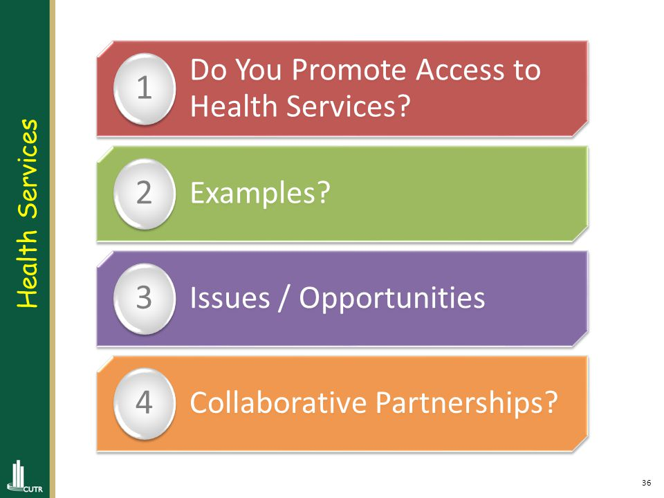 37 Do You Promote Health Benefits of PT.1 Examples.