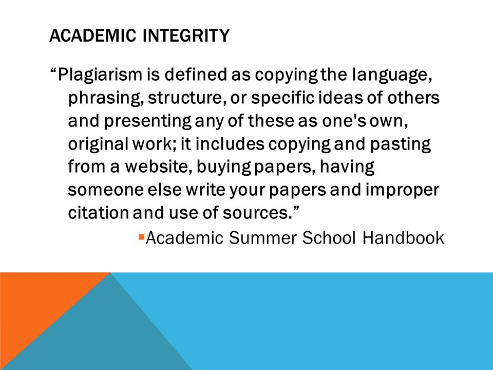 ACADEMIC INTEGRITY VIOLATION: Any student who submits work that is plagiarized will receive a written warning via a message within the course.