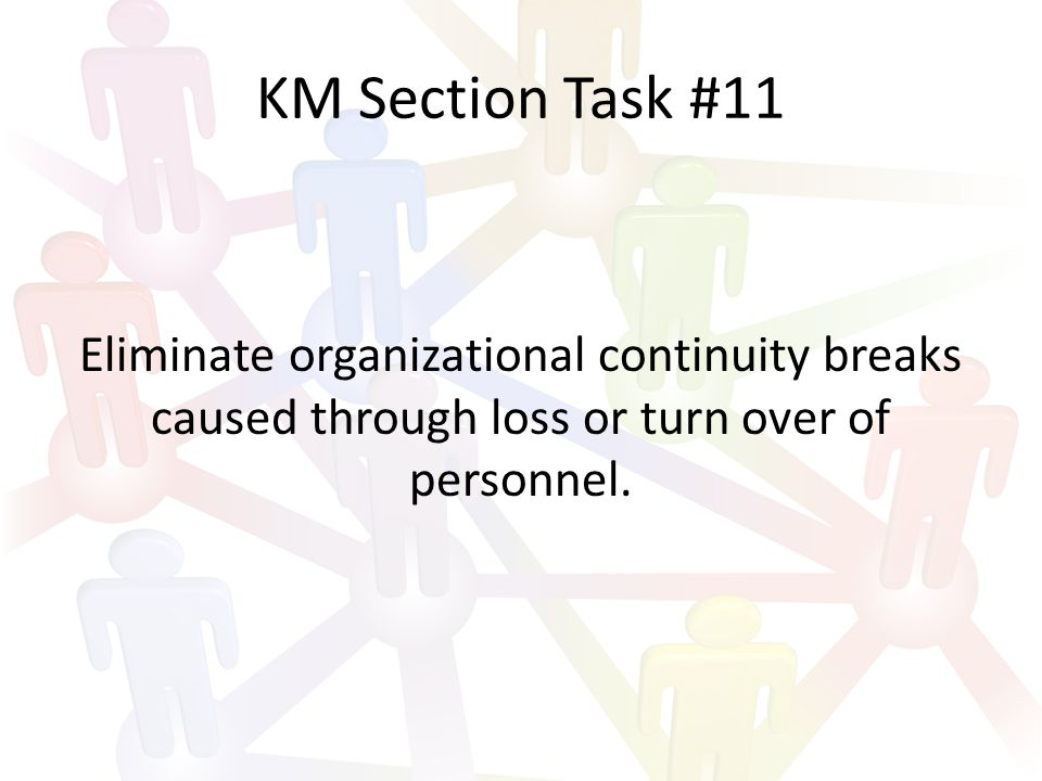 KM Section Task #12 Decrease the use of email internally throughout the organization when and where practical.