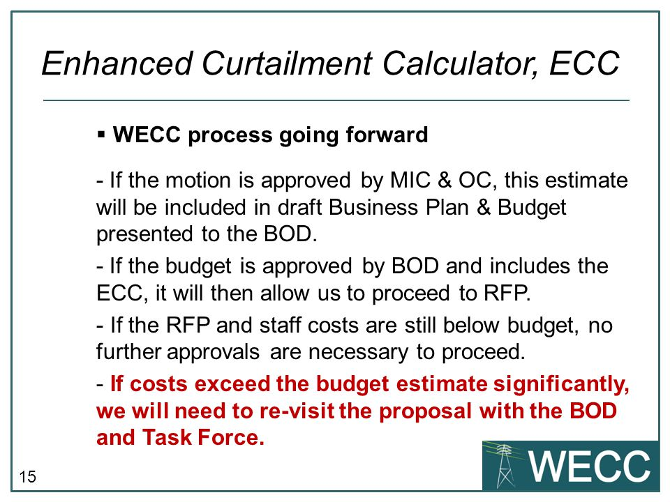 16  Roles & Responsibilities of BAs, TOPs, and RC Enhanced Curtailment Calculator, ECC