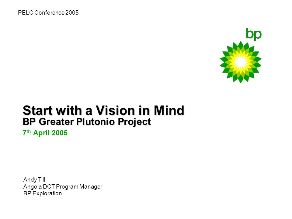 2 Background Block 18 – 6 deepwater fields operated by BP FPSO – Floating production, storage & offloading vessel 300m Long, 250kbbls / day EPCm contract with Kellogg Brown & Root, UK FPSO Hull built by Hyundai Heavy Industries, Korea First Oil Q2 2007 BP investment of $3.3b