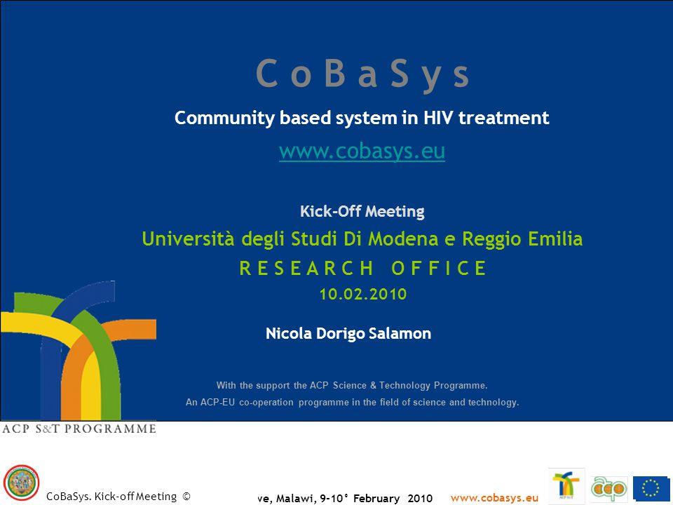 > 2 www.cobasys.eu CoBaSys.