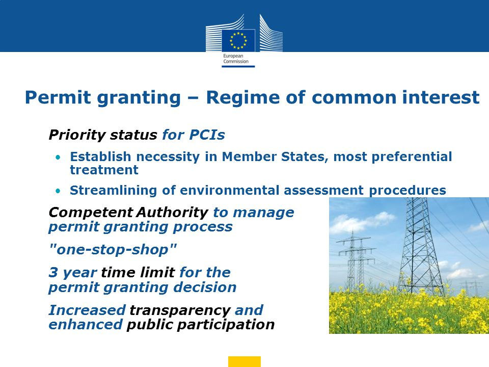 Regulatory framework - measures Energy system-wide cost-benefit analysis Proposal by ENTSOs, ACER opinion, Commission approval Enabling investments with cross-border impact: Cost allocation as function of net positive impact on MSs NRA joint decision on investments and cost allocation ACER decision if no agreement Long-term incentives for investment: Obligation on NRAs to grant appropriate risk-related incentives through tariffs (anticipatory investments, early recognition of costs incurred, additional return, etc.) ACER guidance on best practices of NRAs and methodology