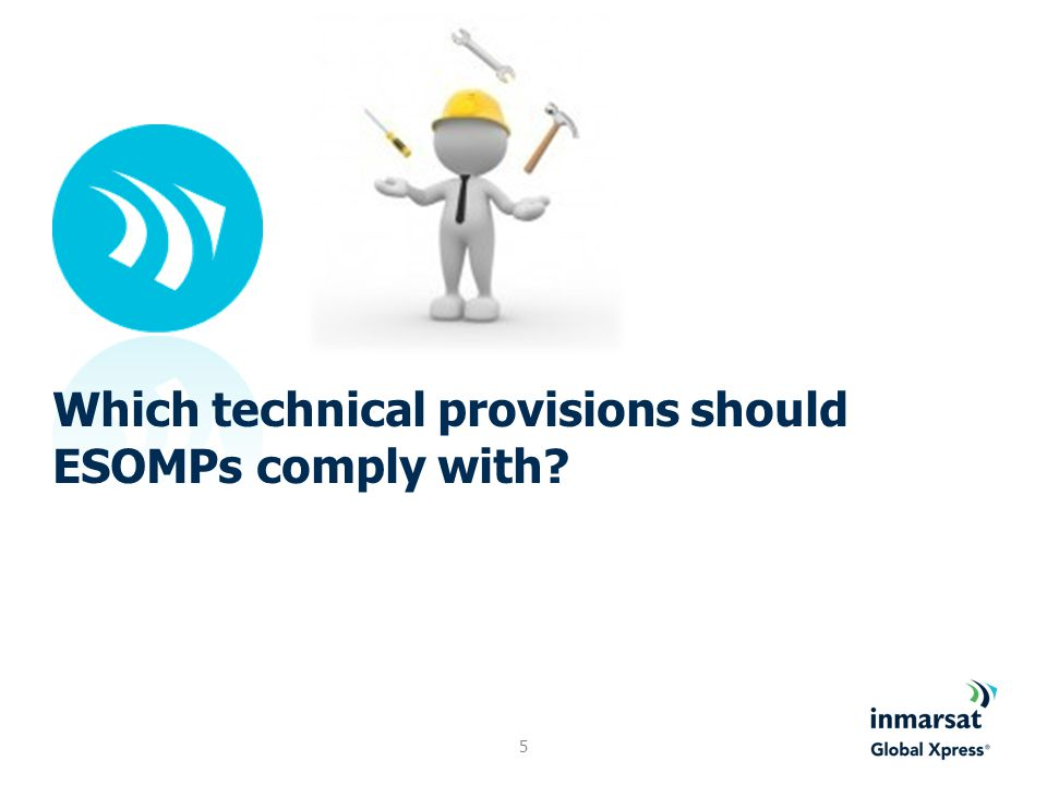 ESOMPs and FSS networks space-to-Earth direction: ESOMPs can operate with typical FSS downlink pfd levels; Earth-to-space direction: ESOMPs shall: Comply with the same off-axis eirp spectral density limits as those contained in Recommendation ITU-R S.524-9; Point and track the correct satellite only; Take into account any unwanted and temporary mis-pointing and act accordingly; Be under the control of a Network Control and Monitoring Centre (NCMC).