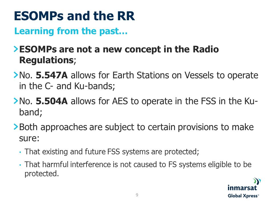 ESOMPs and the RR Since WARC-92, No.