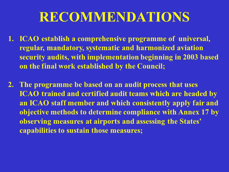 RECOMMENDATIONS 3.