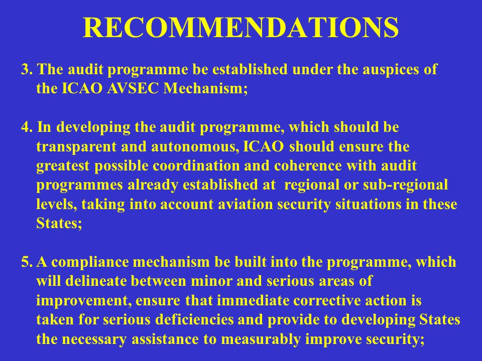 RECOMMENDATIONS 6.