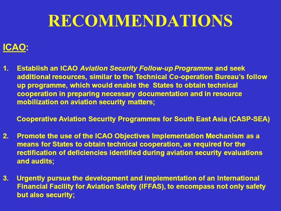 RECOMMENDATIONS 4.