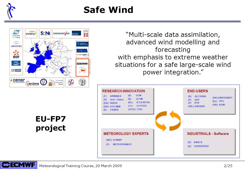 Meteorological Training Course, 20 March 2009 3/25 September 2008 August 2012 Safe Wind