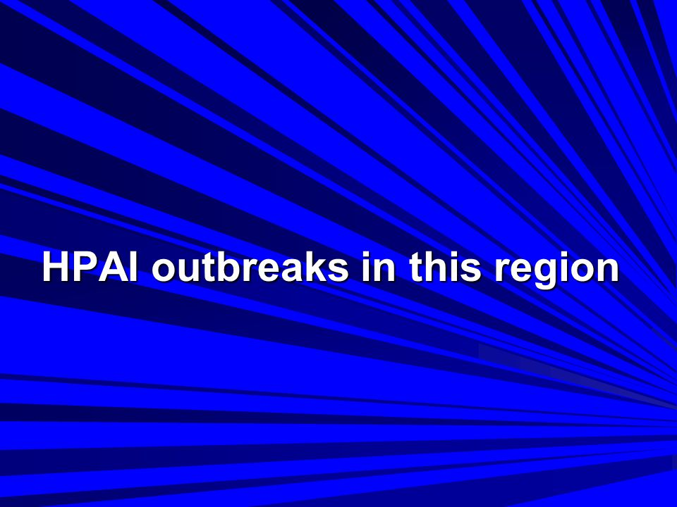 UPDATE ON AVIAN INFLUENZA IN ANIMALS (TYPE H5) as at 31 October 2006 Location Virus type Most recent report remarks CambodiaH5N1 04 / 09 / 2006 China (People s Rep.