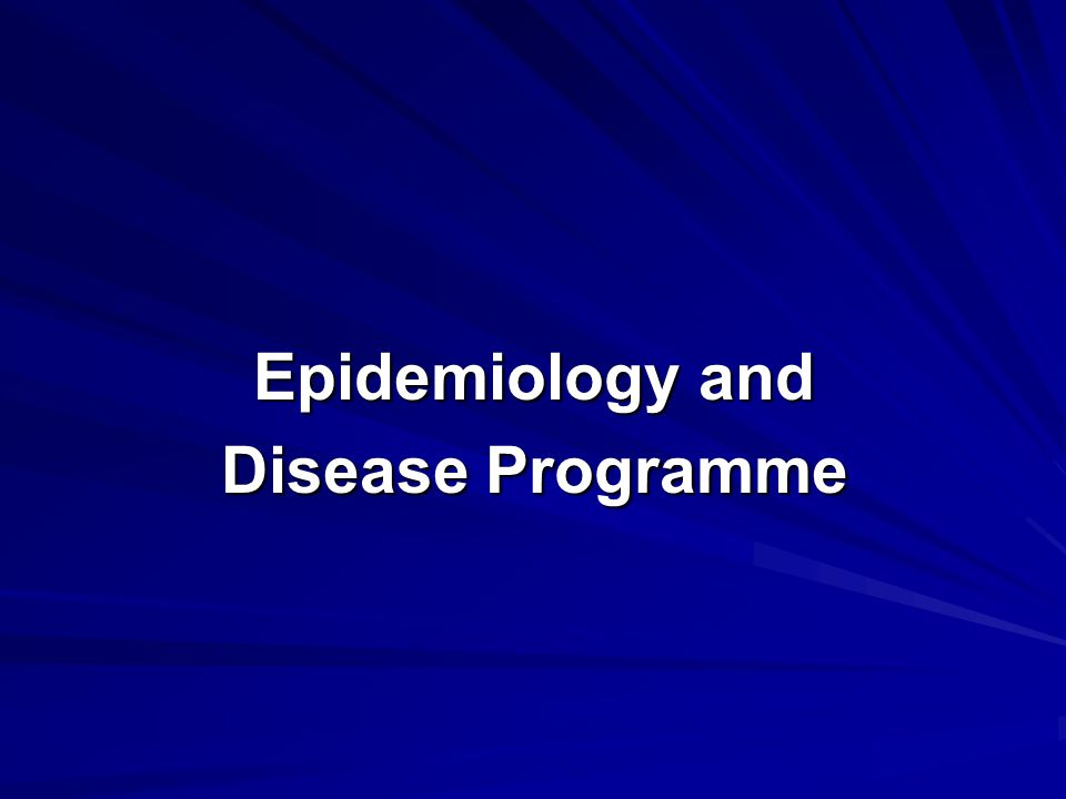 Epidemiology and Disease Programme What diseases infect What diseases infect  When  Where  How many & what animals ( zoonoses or not .