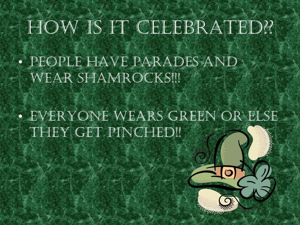 The color that represents St. Patrick s day is GREEEN!!!!!!!!!!!!!!!