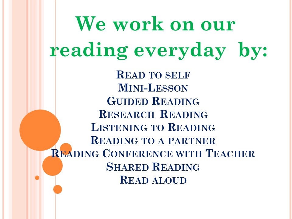 O UR G OAL Our goal is have 100% of students engaged in reading, writing and researching for 75% of our language arts block.